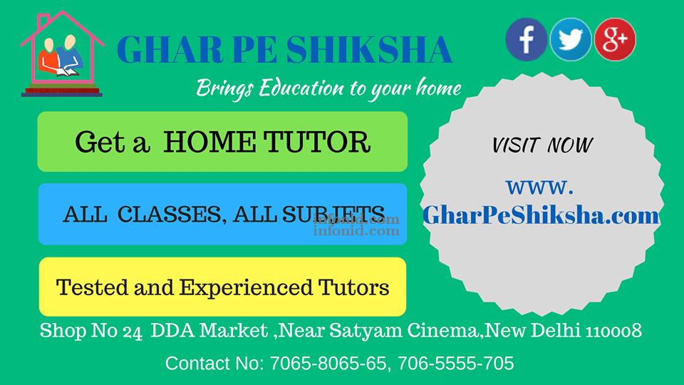 Home Tuition in Delhi Home Tutor Delhi Tutors Jobs in Delhi