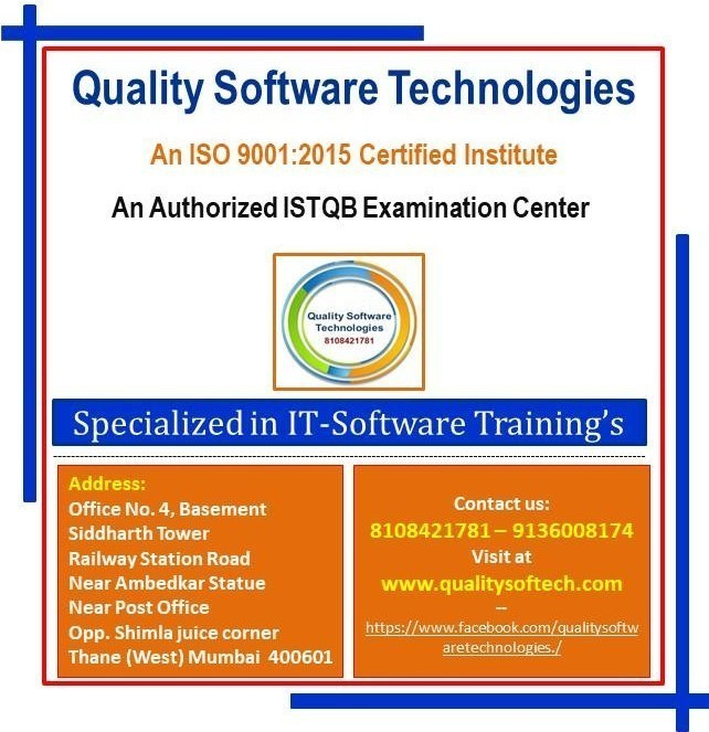TOP SOFTWARE TESTING INSTITUTE IN THANE – QUALITY SOFTWARE TECHNOLOGY