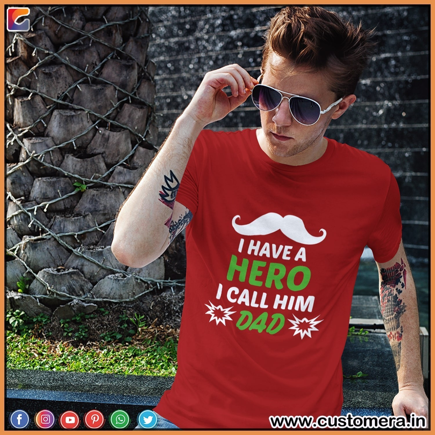 Shop Cool Designer Dad Quote Tshirt at CustomEra